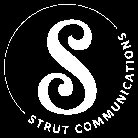 Strut to Success logo in white