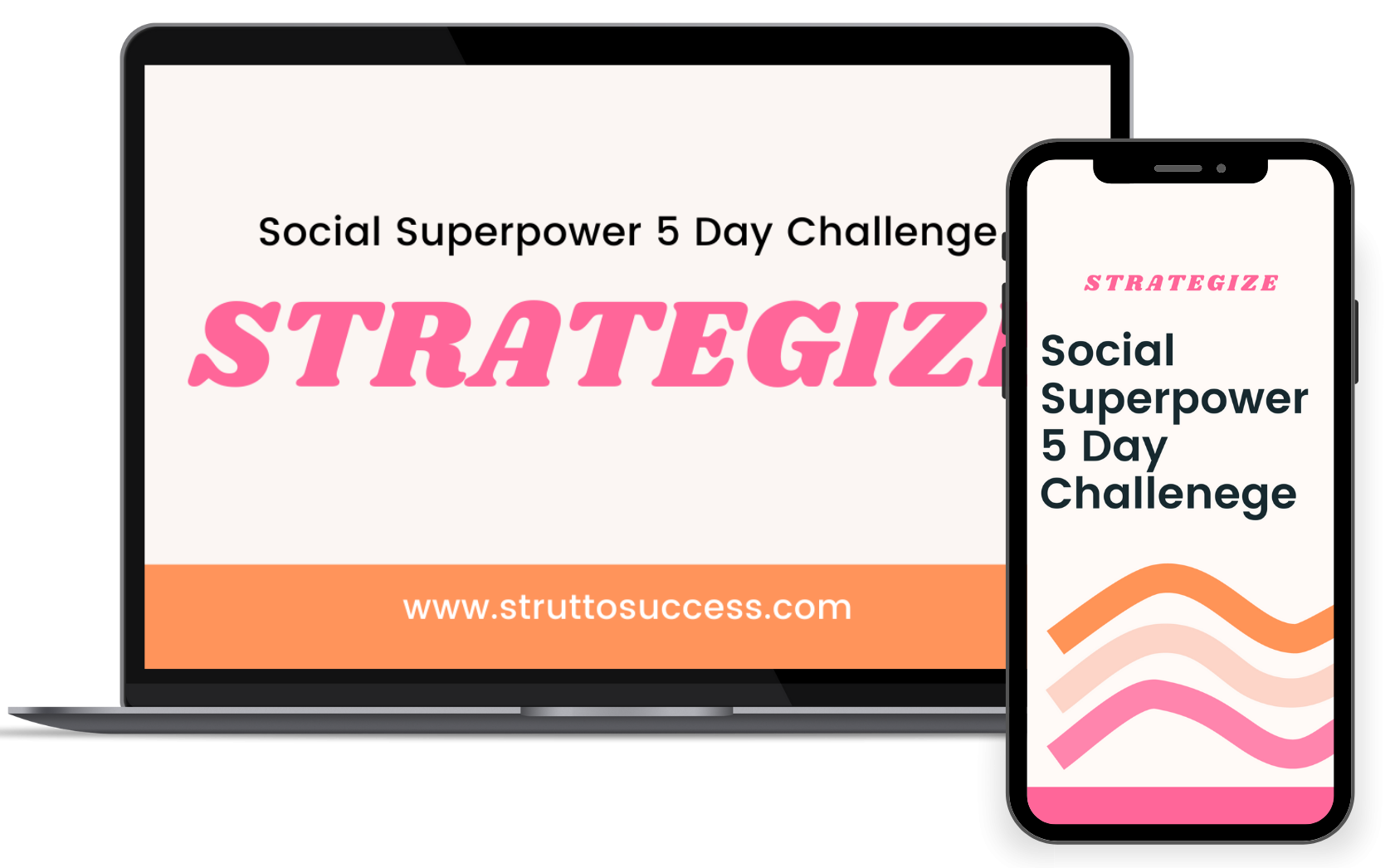 Mock up of Social Superpower 5-Day Challenge